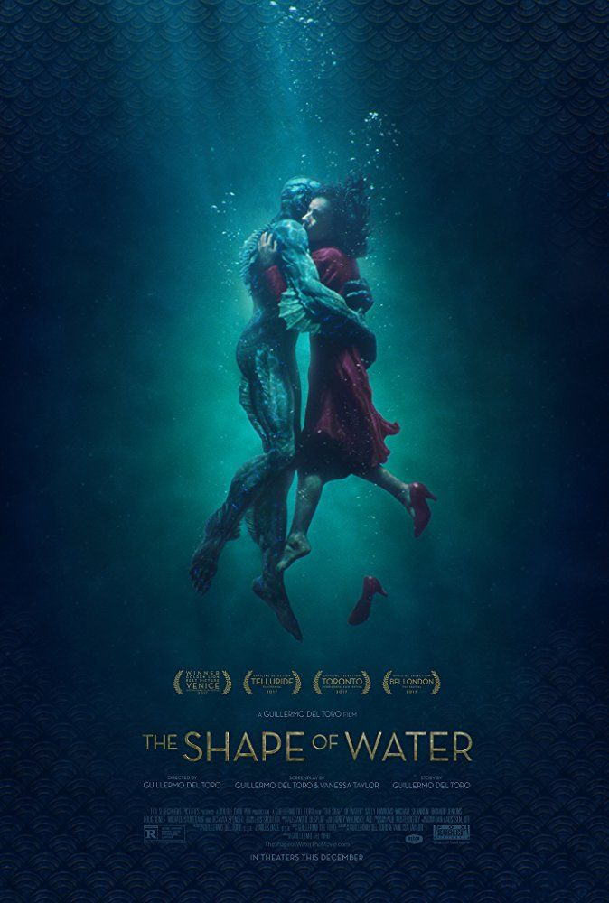 The Shape of Water (2017).  Lovingly told, set in the 1960s, two cleaning women discover an amphibious creature that has been captured and held at a laboratory.  One of the women falls for the creature and sets out to help him.  It's about loneliness and love.  It's at times grotesque, yet magical.  There's so many elements to the story. Stars Sally Hawkins, Octavia Spencer, Michael Shannon, Richard Jenkins, Michael Stuhlbarg, and Doug Jones.