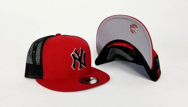 d18080d114e New Era MLB New York Yankees Red and Black Mesh 9FIFTY Snapback Cap ...