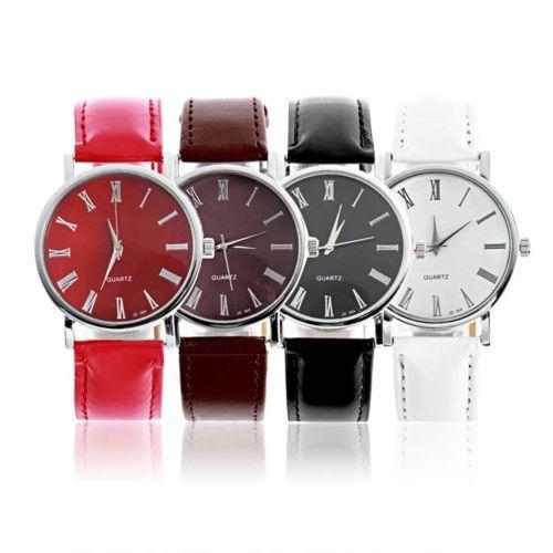 NEW-Fashion-Classic-Design-Ladies-Womens-Faux-Leather-Dial-Quartz-Wrist-Watch-T