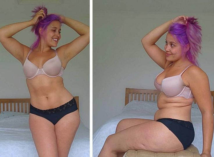 Megan Jayne Crabbe from BodyPosiPanda posted two images of her body — one with stomach rolls— on Instagram to show how deceptive pictures can be.