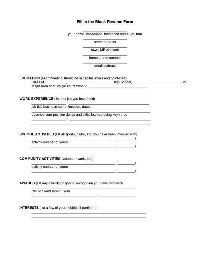 Best 25 free printable resume ideas on pinterest for Fox school of business resume template
