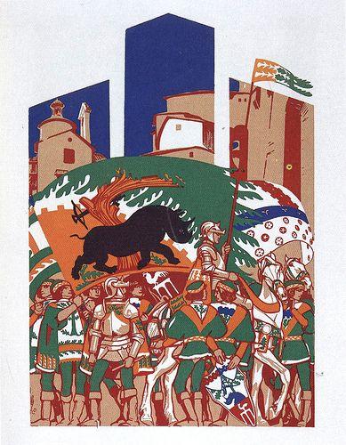 Contrada della Selva - Siena - Duilio Cambellotti 1932 #TuscanyAgriturismoGiratola