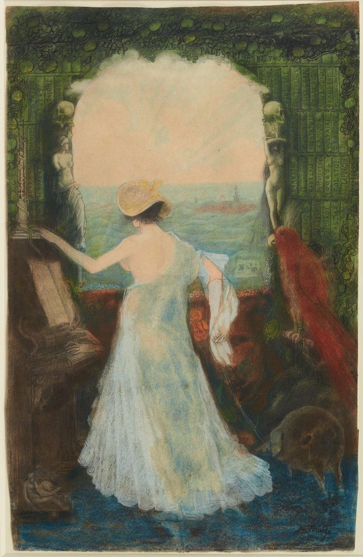 The Athenaeum - Woman with Parrot (Jan Toorop - )