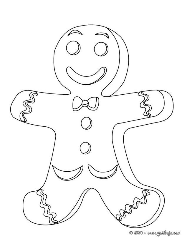 dibujo para colorear galleta de navidad
