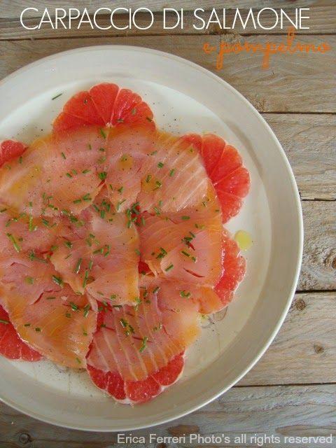 salmon and grapefruit - Carpaccio di salmone e pompelmo