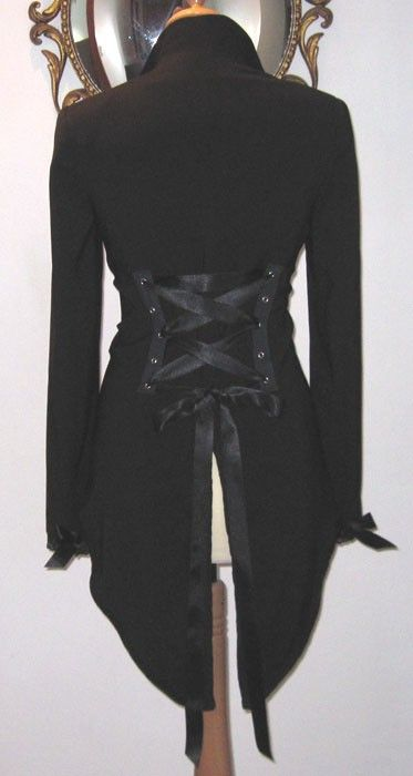 Victorian Corset Jacket Tux Tailcoat Steampunk by Revamporium