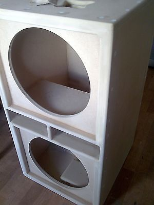 "PAIR of Double 15"" bass bins speaker boxs Soundsystem Fane PD"