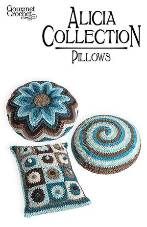 I love the flower pillow - Gourmet Crochet pattern