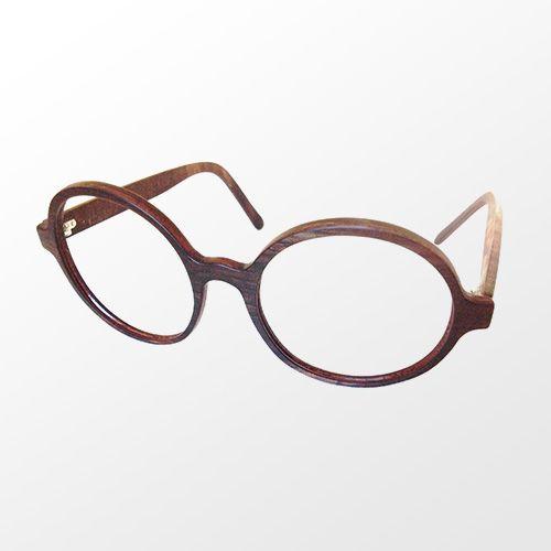Monture faite à la main 100% bois / Handmade 100% wood glasses frame Ronde / rond