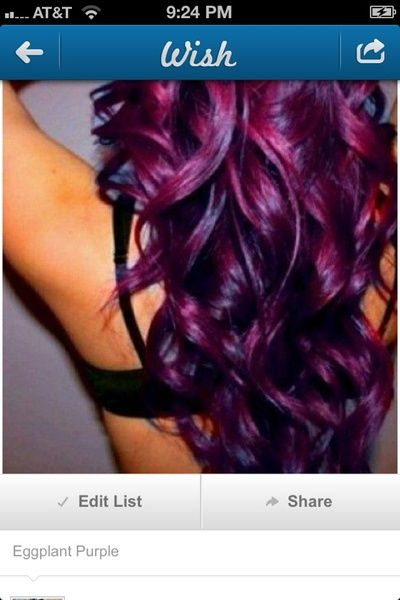 I found 'Dark Purple Hair' on Wish, check it out!