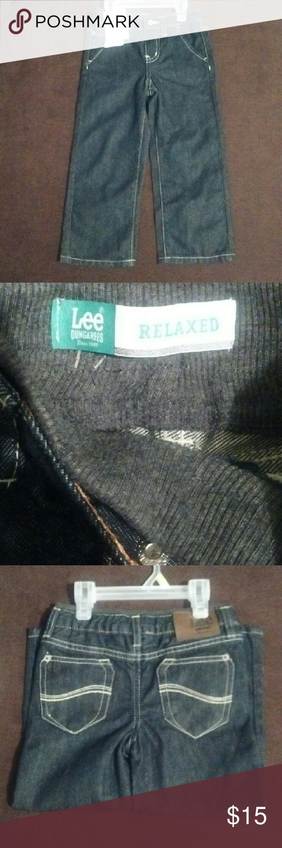 3t Blue Lee Dungarees 3t Blue Lee Dungarees. NWT. Has Jersey tyle waistband. Lee Bottoms Jeans