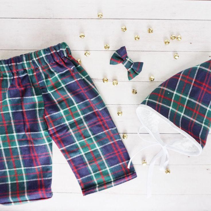 Baby Christmas Pajama Set - Baby Christmas Pajama Pants - Baby Pixie Hat - Baby Holiday PJs - Baby Jammies - Baby Christmas Pajamas by BuccioBabyShop on Etsy
