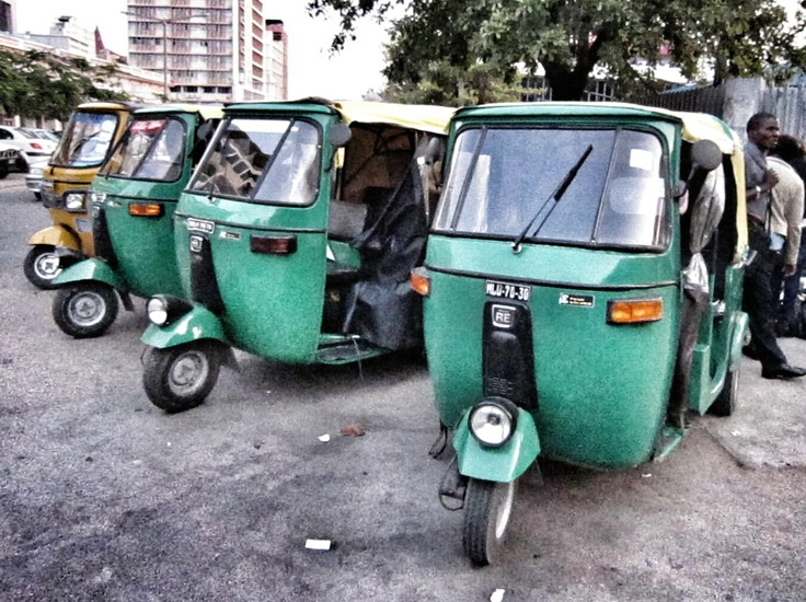 Mototaxi.Maputo, Mozambique.