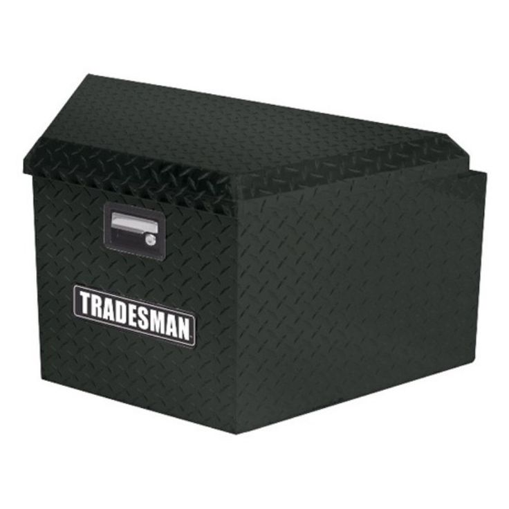 Tradesman Aluminum Trailer Tongue Box - Black - TAL