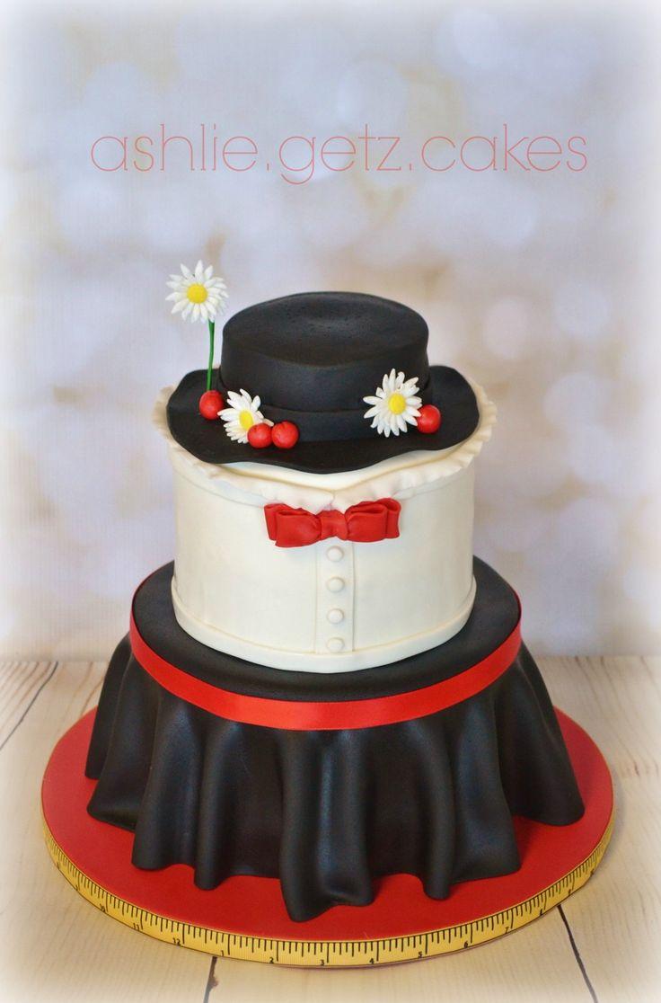 Mary Poppins cake. My original design by ashlie.getz.cakes                                                                                                                                                                                 More