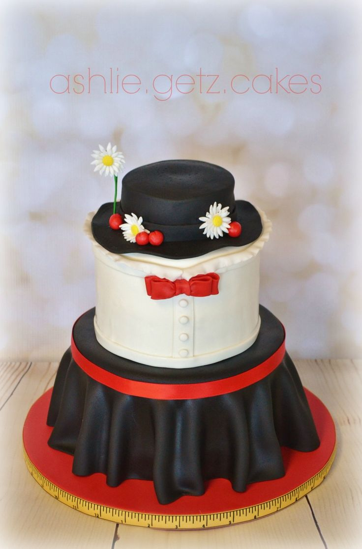 Mary Poppins cake. My original design by ashlie.getz.cakes