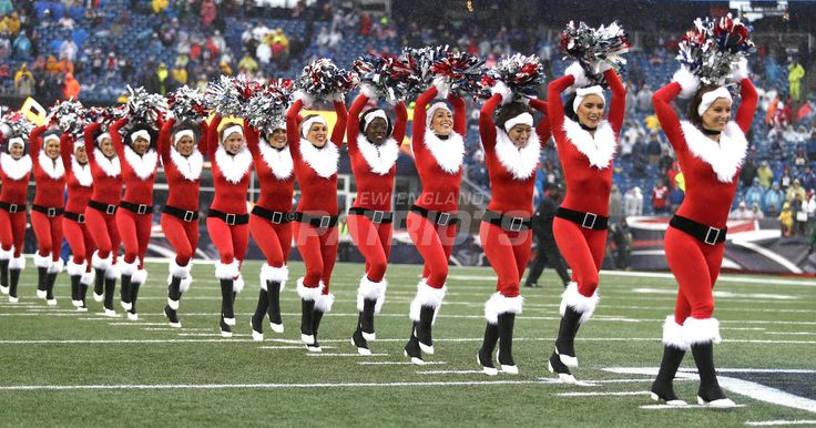 The New England Patriots Cheerleaders Performed During the Home Game Against the New York Jets on Saturday, December 24, 2016.