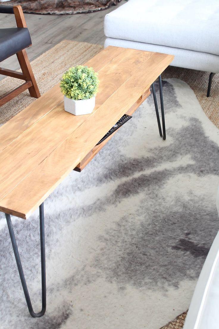 Harlow Thistle Diy Hairpin Leg Coffee Table With Remote Storage Soffbord Diy Soffbord Inredning [ 1104 x 736 Pixel ]