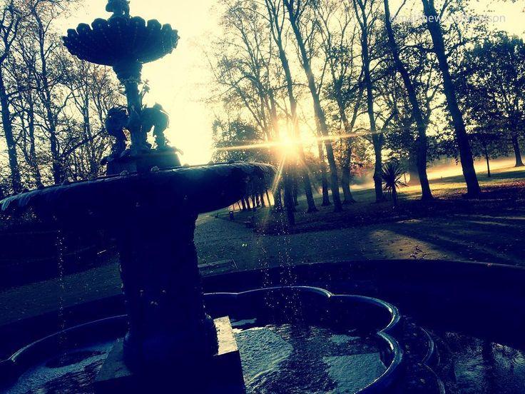 Misty park mornings #fountain #park #ministry #parkwitnessing