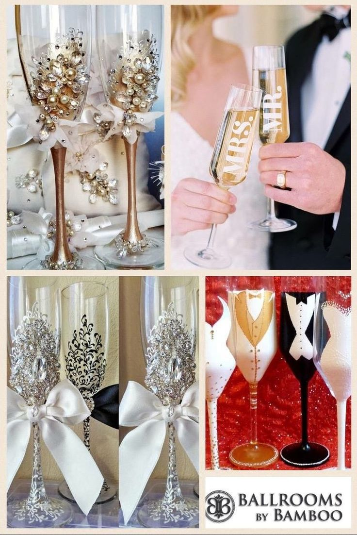 Special glasses for wonderful weddings by Ballrooms by Bamboo