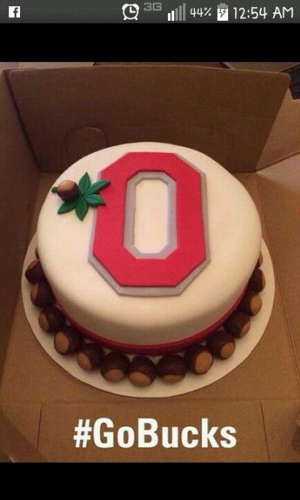 Ohio State Buckeyes cake
