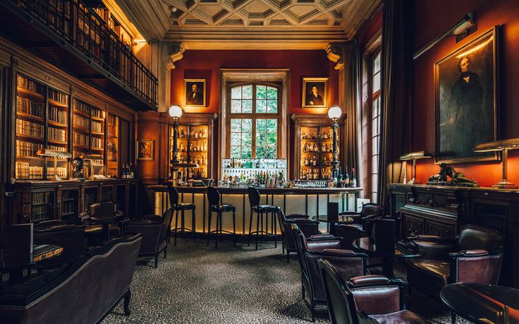 Library Bar at St James Paris - The World's Sexiest Hotel Bars | Travel + Leisure