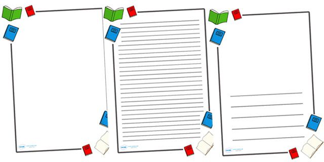 Customized writing paper with borders ks2