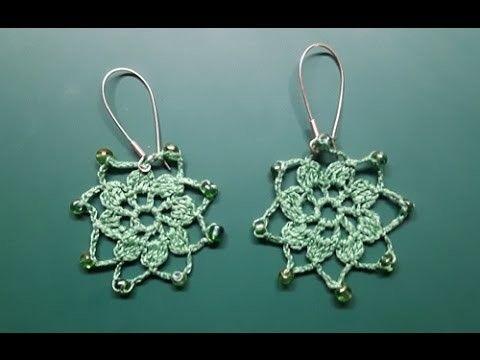 Szydełkowanie dla leworęcznych cz.4 kolczyki z koralikami - crochet earrings