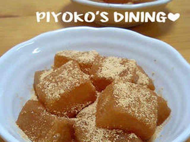 片栗粉で✿和菓子屋さんの本格わらび餅風❤の画像