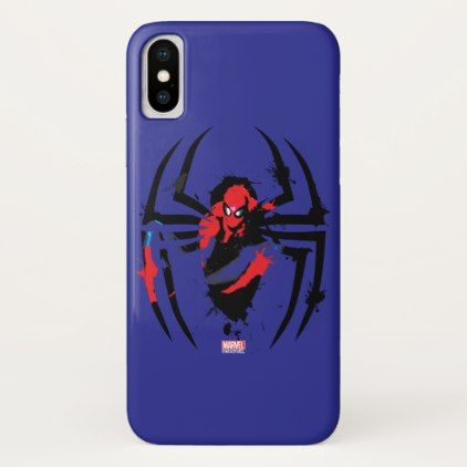 #Spider-Man in Spider Shaped Ink Splatter iPhone X Case - #marvel #comics & #movies #gifts