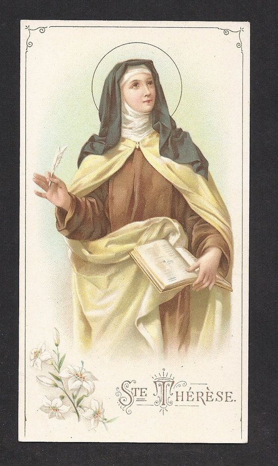 Holy cards: St. Therese & her Sisters, St. Therese, Doctor of the Church