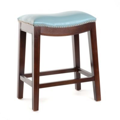Product Details Everitt Blue Leather Counter Stool Sweet
