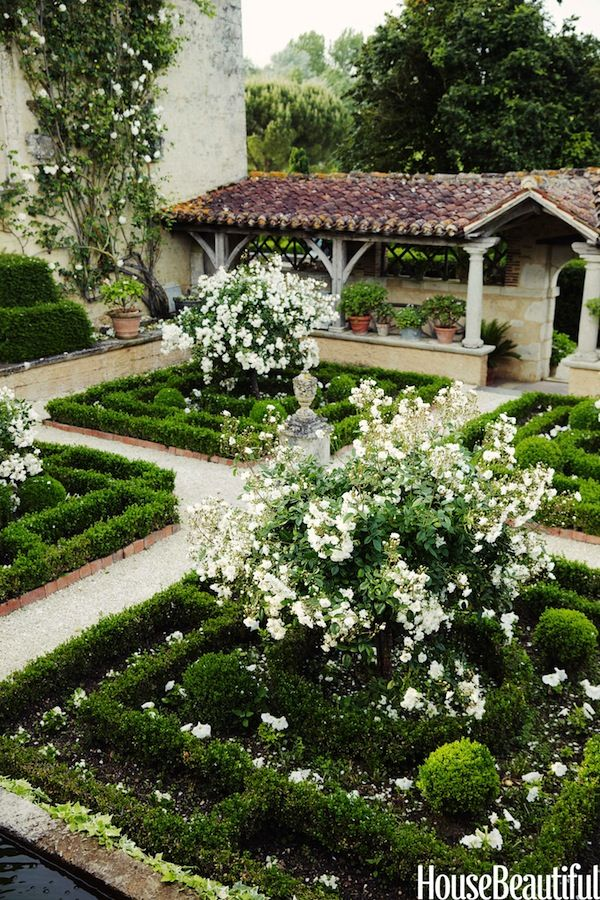 A restored French chateau garden in House
