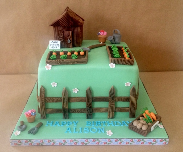 35 best Shed Cakes images on Pinterest Garden cakes ...