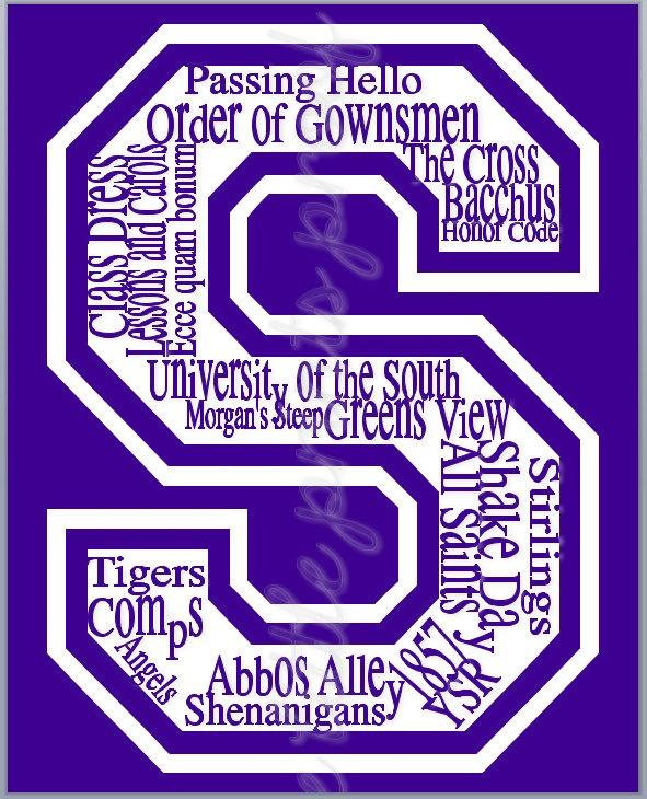 "Sewanee ""University of the South"" Subway Print. $18.95, via Etsy."