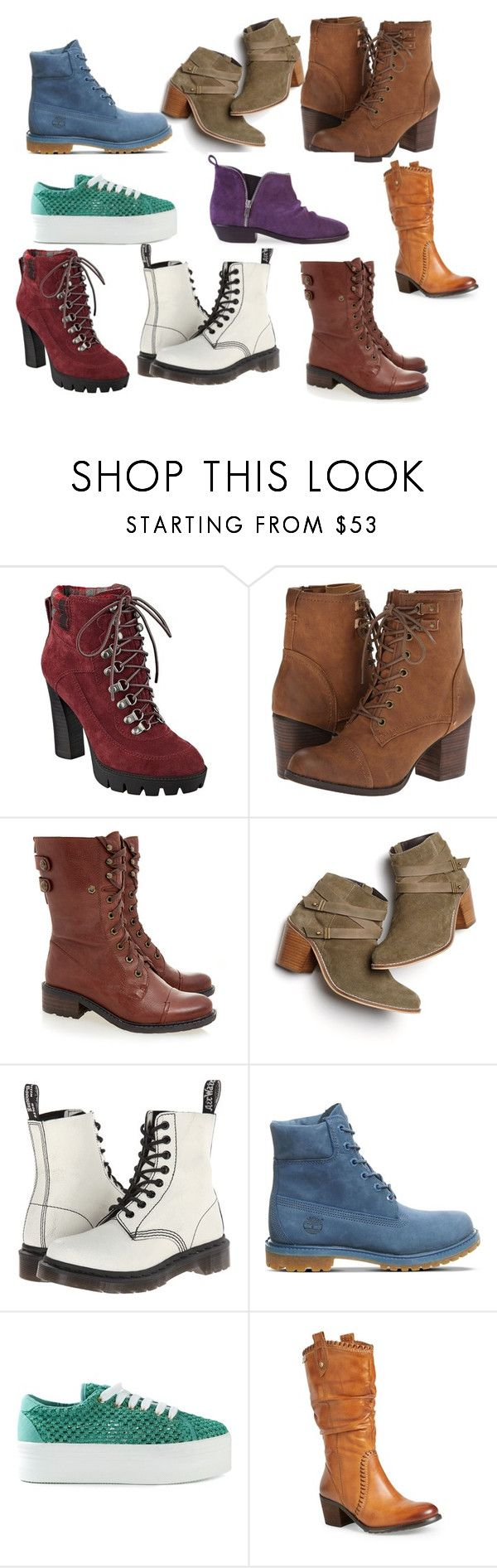 """""""сапоги"""" by artemia-13 on Polyvore featuring мода, Nine West, Madden Girl, Sam Edelman, Monsoon, Dr. Martens, Timberland, Jeffrey Campbell, Pikolinos и Golden Goose"""