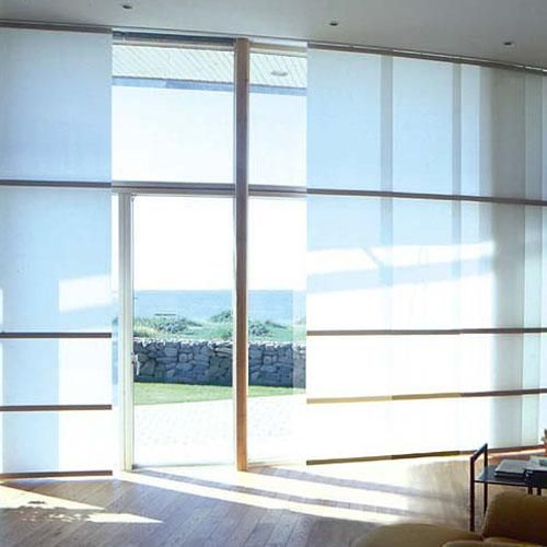 80 best vertical blinds alternatives images on pinterest for Panel tracks for patio doors
