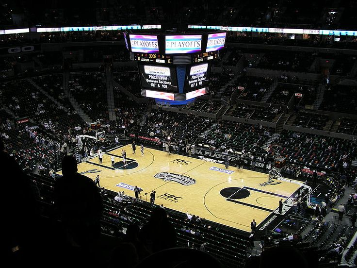 Inside the AT&T center.  In their 33 NBA seasons since 1976–1977, the Spurs have captured 17 division titles, which gives the Spurs the most division titles in the NBA during that 33-year span (the Lakers are second with 16). They have made the playoffs in 19 of the last 20 seasons, and have not missed the playoffs in the 14 seasons since Tim Duncan was drafted by the Spurs in 1997.