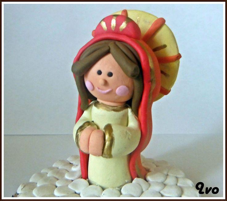 Virgen plastilina