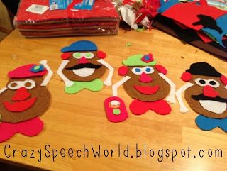 DIY Potato People for Speech!  - Pinned by @PediaStaff – Please Visit  ht.ly/63sNt for all our pediatric therapy pins