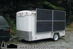 Solar power trailer: Part 1 by Jeffrey Yago.  Want more modern amenities during camping trips, without buying an expensive RV?  Read this article to learn more about converting your travel trailer into a solar-powered one. #JeffYago