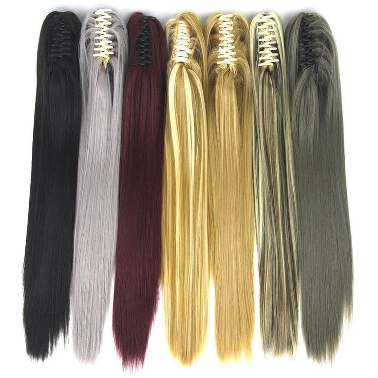 Soowee 15 Colors 55Cm Straight Clip In Hairpiece Hair