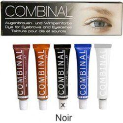 Teinture Combinal pour cils, sourcils, moustache et poils, kit Noir