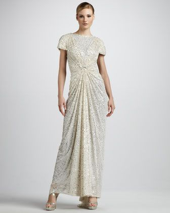 Mother of the bride dress ..... Tadashi Shoji Sequined Mesh Gown - Neiman Marcus