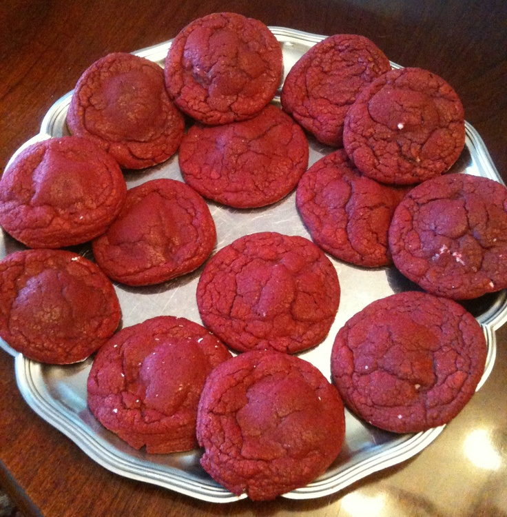 Red Velvet Cheesecake Cookies Recipe — Dishmaps