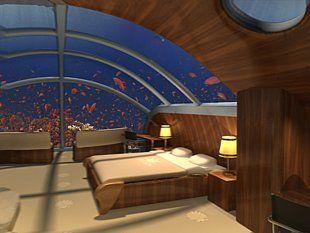 View from a bedroom suite at the Poseidon Undersea Resort in Fiji.: Undersea Resorts, Mermaids Bedrooms, Honeymoons Places, Hotels Suits, Underwater Hotels, Bedrooms Suits, Holidays Destinations, Private Islands, Poseidon Undersea
