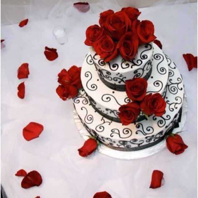 17 best images about stuff to buy on pinterest wedding table centerpieces wedding cake tables - Red and silver centerpiece ideas ...