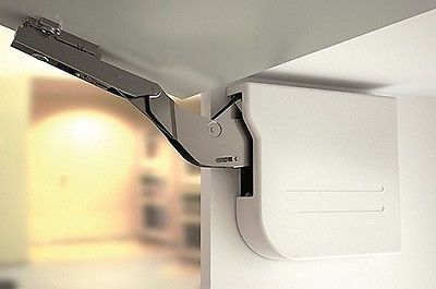 ★ 2 x Lid Stays ★ Lift Up Kitchen Cabinet Cupboard Hinge Soft Closing 5.5 kg