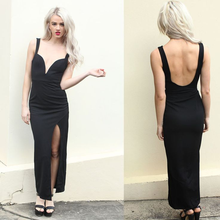 This maxi dress has an incredible cut and fit and can be worn to formals, the races, luncheons and more. With a split down the front and a scoop back it's as elegant as it is sexy.Material: PolyesterKatite is 175cm tall and is wearing size 8.