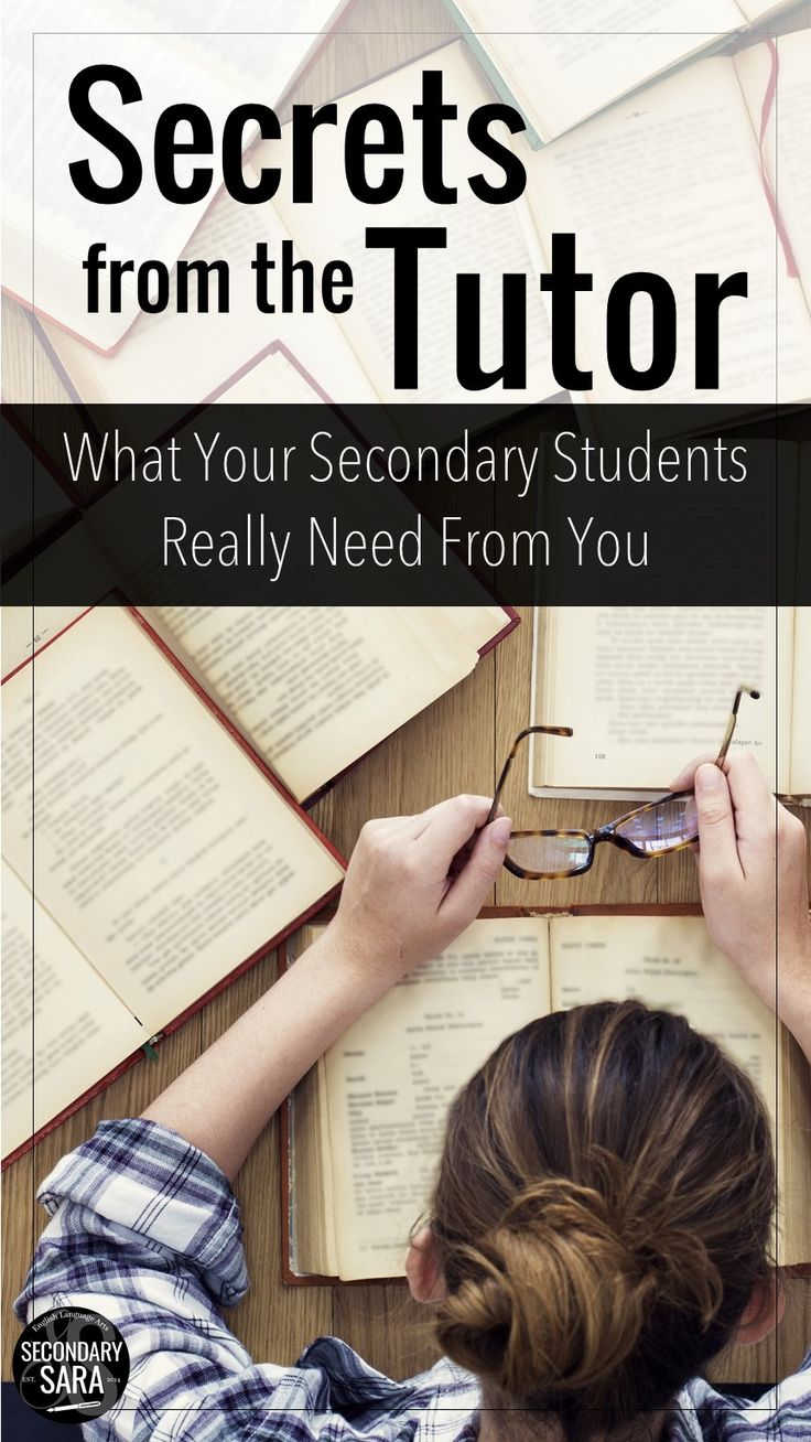 Blog Post - Secrets from the Tutor of your secondary students (and what your students REALLY need from you!)